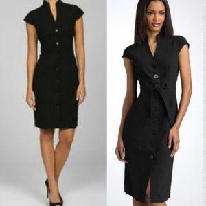 Calvin Klein Professional Button Down Belted Dress